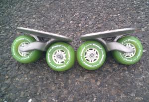 フリーラインスケート・ドリフトスケート緑20200412-1
