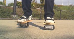 フリーラインスケート・バインドして滑る5
