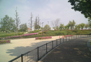 パークアリーナ小牧のローラースケート場・花09