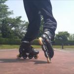 インラインスケート・移動エイトサークルを踊ろう!